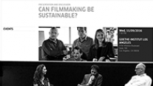 Presentation and discussion about sustainable filmmaking at the Goethe-Institut in Los Angeles