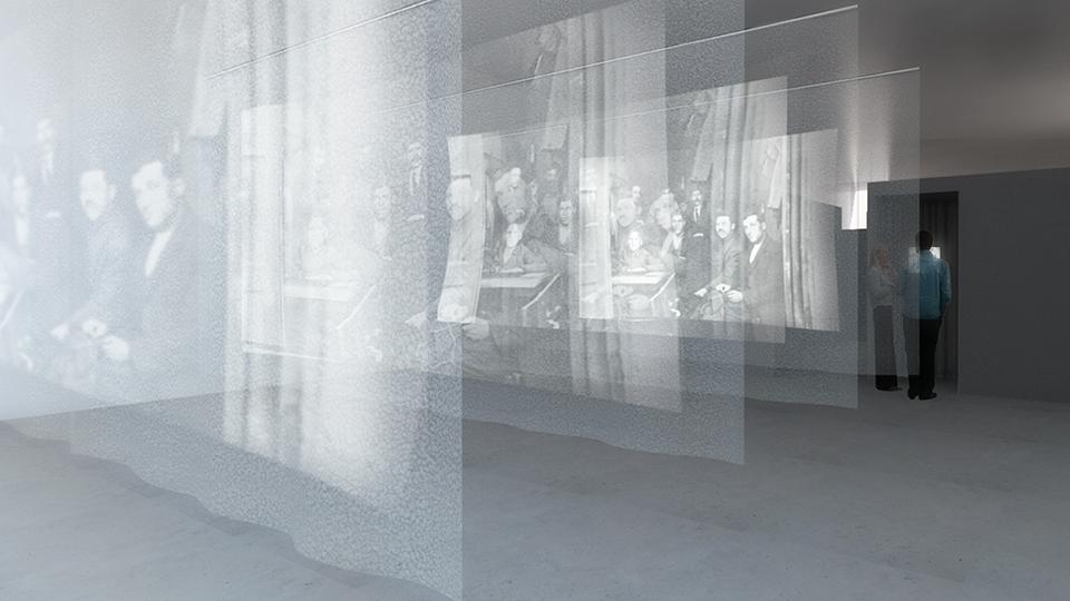 Multimediaausstellung TWICE A STRANGER